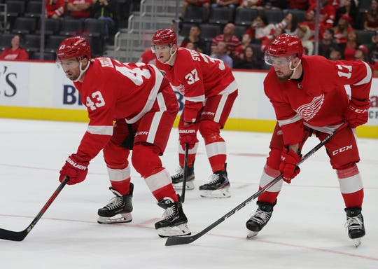 Who will line up for the Detroit Red Wings when they open the 2019-20 season on Oct. 5?