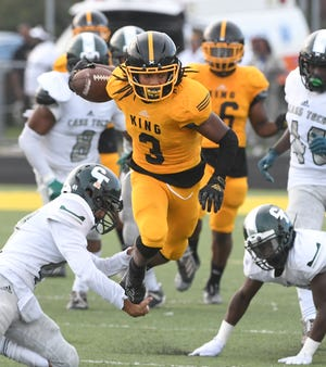 Detroit King's Marshawn Lee had an amazing punt return, but it ended in a fumble that was recovered by Detroit Cass Tech in the third quarter on Friday.