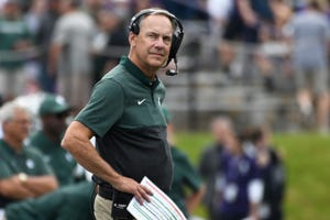 Mark Dantonio had to wait an unexpected week, but the win over Northwestern moved him past Duffy Daugherty into first place on Michigan State's all-time victories list.