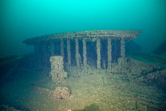 Part of the wreckage of the schooners Peshtigo and St. Andrews, lost in 1878 near Beaver Island.