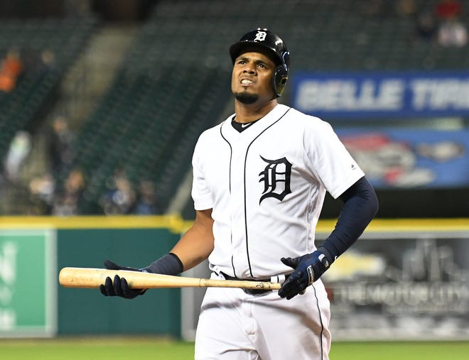 Jeimer Candelario is hitting .198 with a .299 on-base percentage through 88 games with the Tigers this season.