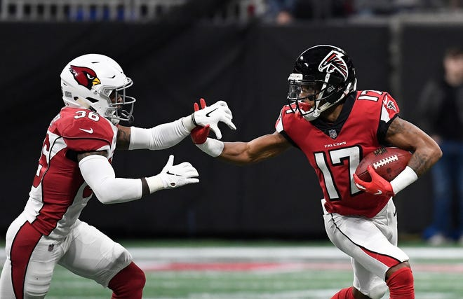 Marvin Hall (17) played in 24 games with the Falcons over the last two seasons.