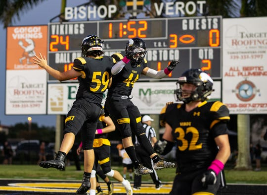 Bishop Verot takes on LaBelle High School on Friday night, Sept. 20, 2019, at Bishop Verot High School.