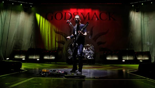 Godsmack performs on Sept. 20, 2019, at the Resch Center in Ashwaubenon, Wis.