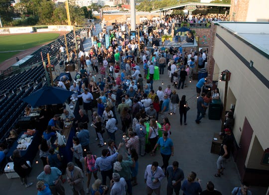 "People attend the euphoria event, ""Taste of the South"" held at Fluor Field Friday, Sept 20, 2019."