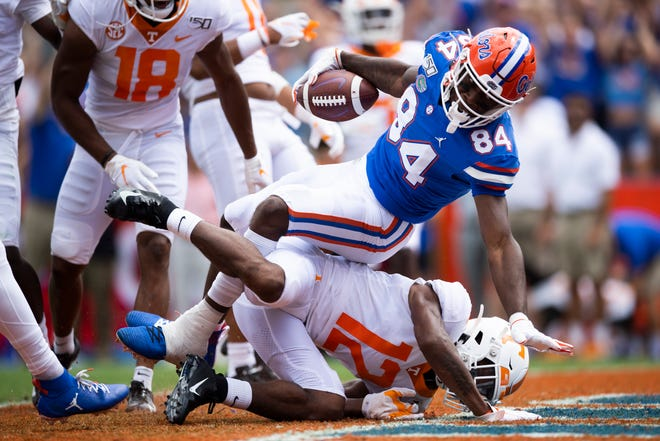 Florida tight end Kyle Pitts is getting his game together.