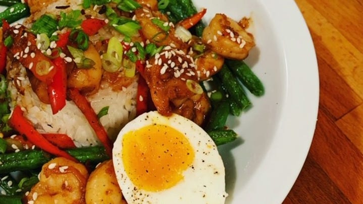 Saucy and versatile shrimp and rice