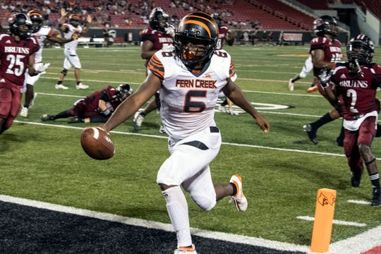 Fern Creek running back Terrance Mitchell rushed for a late touchdown against Ballard sealing the victory with a final score of 15-12 on Friday night. Sept. 20, 2019