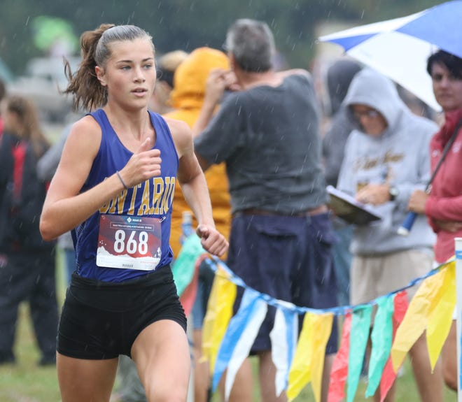 Ontario's Brienne Trumpower finished in ninth place at the Midwest Meet of Champions at Hillard Bradley High School on Saturday.