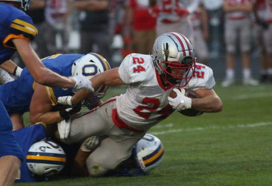 Shelby's Owen Fisher ran for 146 yards and two touchdowns in a 42-7 win over Ontario Friday night.