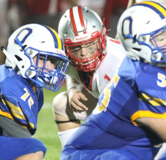 Shelby's Marek Albert has 15 sacks on the season and could be the difference in Saturday night's game against Clyde.
