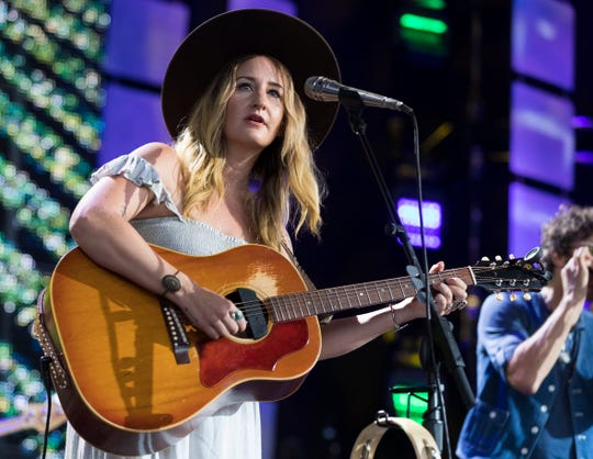 Margo Price performs at Farm Aid Saturday, Sept. 21, 2019, at Alpine Valley  Music Theatre in East Troy, Wis.