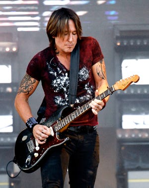 Keith Urban performs during the first day of the Pilgrimage Music & Cultural Festival at The Park at Harlinsdale Saturday, Sept. 21, 2019 in Franklin, Tenn.