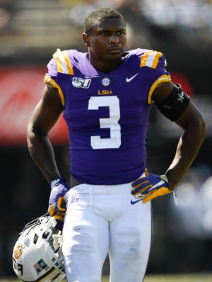 Senior LSU safety JaCoby Stevens helped lead a march to LSU president Thomas Galligan Jr.'s office on Friday in protest of recent police brutality against Blacks across the nation.