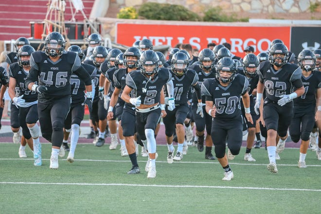 The Centennial Hawks face off against The Oñate Knights at Aggie Memorial Stadium in Las Cruces on Saturday, Sept. 20, 2019.