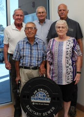 The Utility Customer Advisory Group is composed of five volunteer Las Cruces residents (left to right, front): Frank D. Gomez and Shirley Clark (vice chair); (back) Eugene Suttmiller (chair), Paul Royalty and Robert Snyder.