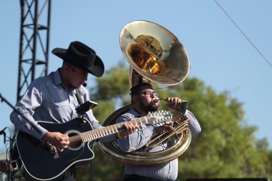 Porte Campirano performs during El Grito Fiestas Patrias in Coachella, Calif., on Saturday, September 21, 2019.