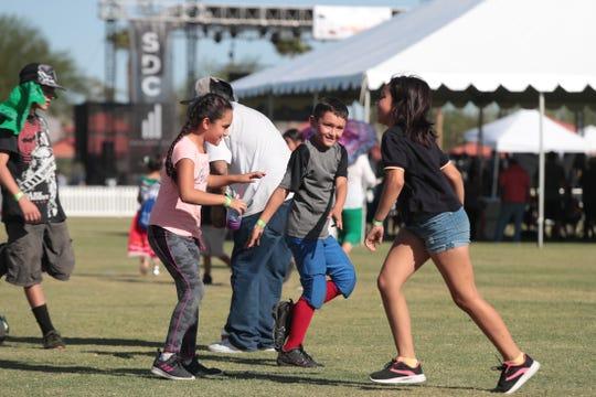 Ishmeal Banda, 9, of Indio dances during El Grito Fiestas Patrias in Coachella, Calif., on Saturday, September 21, 2019.