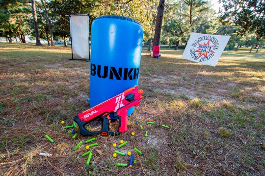 Created in 2018, the Panhandle Nerf Club meets once a month at Bayview Park in Pensacola to give individuals of all ages a chance to enjoy structured Nerf blaster competition against others. The games are free to play and include ammunition. Players just need to supply eye protection and a blaster to play with. Parents are required to stay on site while their children play. The next round of games is scheduled for Saturday, Oct. 5, from 8 a.m. until noon.