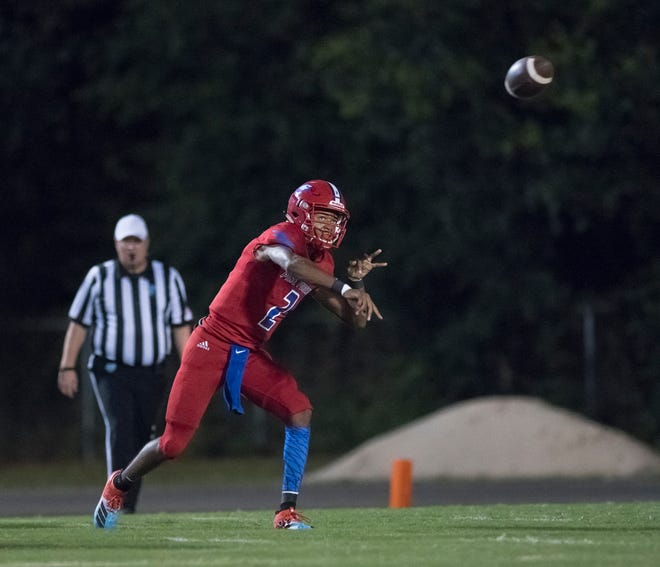 Pine Forest quarterback LD Clardy and the Eagles had an explosive win over district opponent Pensacola High on Friday.