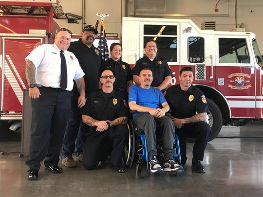 (From left): Jason Jessamine, Chris Rogers, Lauren Hall, Bill Ruehle, Mark Eckenrode, Jaime Santana and Joe Fontaine pose together on Saturday, Sept. 21, 2019.