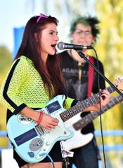 Brandi & the Bottomshelf performs during Harvest Vegfest at Cousler Park in Manchester Township, Saturday, Sept. 21, 2019. Dawn J. Sagert photo