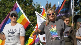 LGBTQ+ supporters marched in their rainbow best at the 10th annual Redding Pride Festival and March.