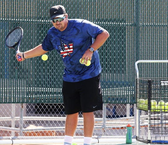 San Angelo Lake View High School head tennis coach Austin Carrola took over the program in the fall of 2019. He's a former men's and women's head coach at Schreiner University.