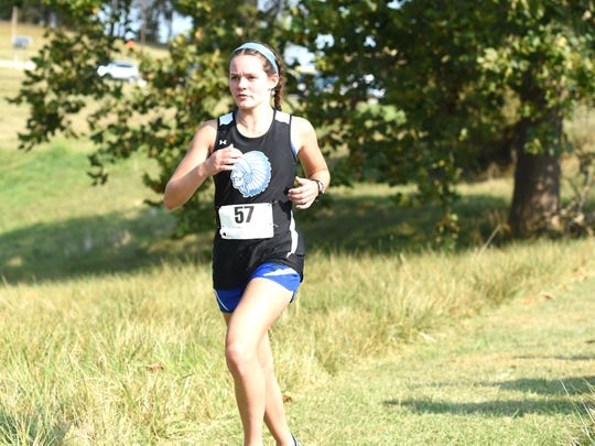 Delaney Stogdale was Fort's top runner in the Augusta County Cross Country Invitational in Fishersville on Saturday.