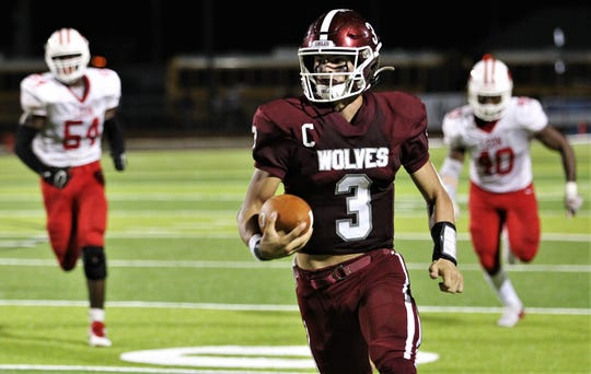 Chiles quarterback Garrett Greene rushed for over 100 yards as Chiles beat Leon 37-20 on Friday, Sept. 20, 2019.