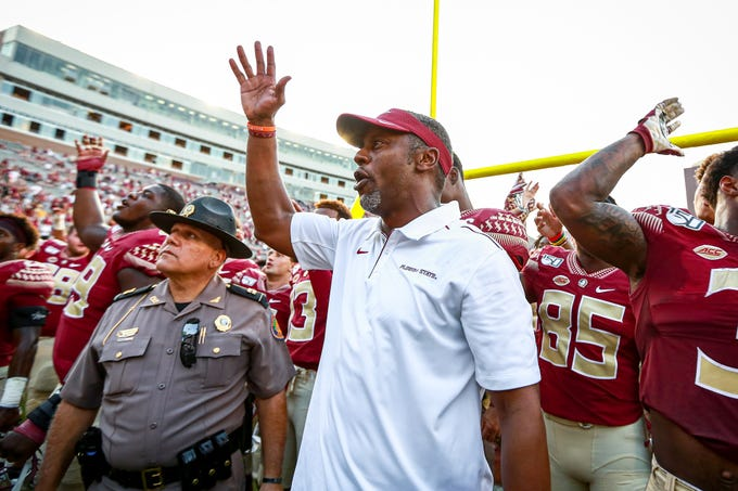FSU holds off a late surge from Louisville to win the game 35-24 on Saturday, September 21.