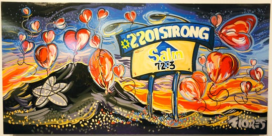 """Tribute #3 Tribute #2201,"" by Terrance Flores, is shown at the El Paso Art Association's ""Fresh Faces! El Paso Strong!"" exhibit Friday, Sept. 20, 2019, at Crossland Gallery in El Paso."