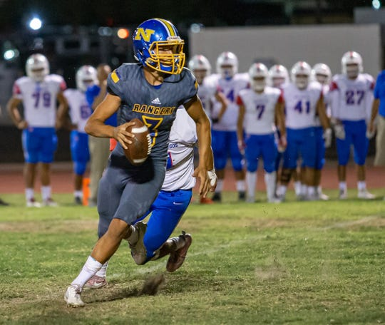 Quarterback Leeram Stoneman and Nordhoff hope to go to 2-0 in Citrus Coast League by taking down Santa Paula this Friday night.