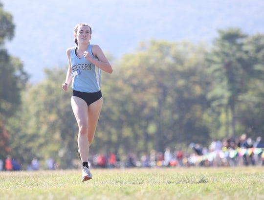 Suffern's Mary Hennelly runs the Suffern Cross-Country Invitational held at Bear Mountain State Park in Stony Point on Saturday, September 21, 2019.