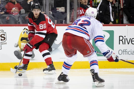 premium selection 52ed4 ac6c7 NY Rangers 'B' team gets first look at NJ Devils top pick ...