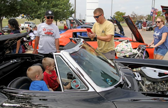 Kids were able to climb into Johnny Downs restored 1967 Corvette Convertible Saturday, Sept. 21, 2019, at the Wichita County Corvette Association's 34th Annual North Texas Corvette Roundup in the Holiday Inn Express parking lot.