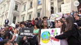 Students walked out of schools in New York City and marched in solidarity with youth around the world, all demanding action on climate change.