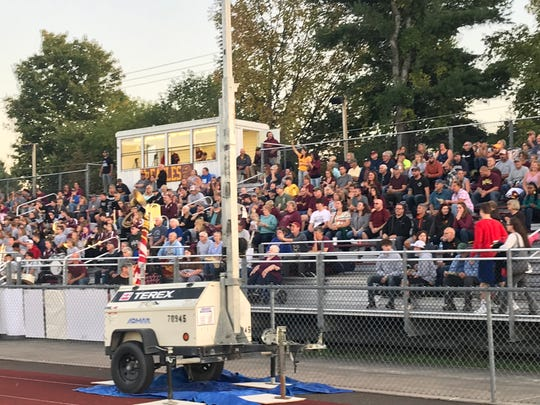 A big crowd turned out Saturday night for Whitney Point's homecoming game against Dryden.