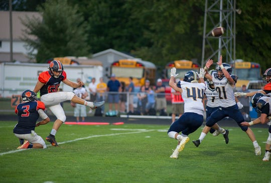 Galion's Dominic Pittman is now 32-for-32 kicking extra points and 3-for-6 field goals.