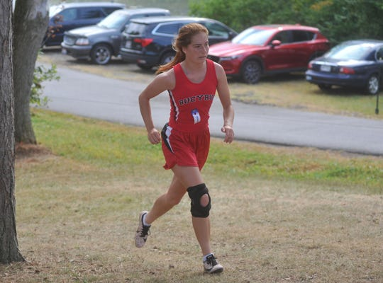Taylor Patterson ran cross country and track for the Lady Redmen. She was hoping to break the school's long jump record this year.