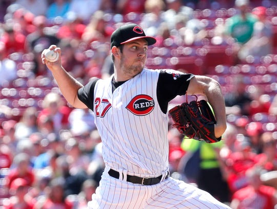 Cincinnati Reds starting pitcher Trevor Bauer (27) throws against the New York Mets during the first inning at Great American Ball Park. Mandatory Credit: David Kohl-USA TODAY Sports