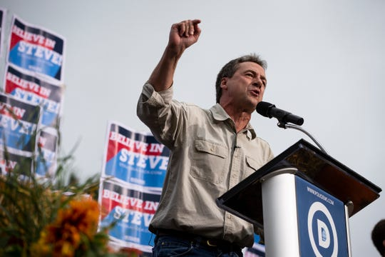 Montana Gov. Steve Bullock campaigns for the Democratic presidential nomination on Sept. 21, 2019, in Des Moines, Iowa.