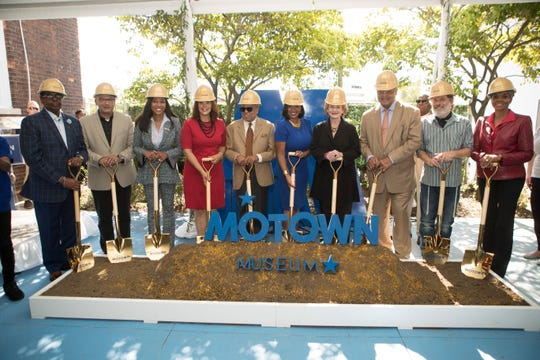 The Motown Museum expansion groundbreaking included Michigan Gov. Gretchen Whitmer, Motown founder Berry Gordy, museum CEO Robin Terry, U.S. Sen. Debbie Stabenow and the Rev. Jesse Jackson.