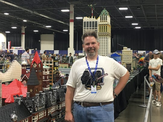 Scot Thompson is the president of MichLUGS, an organization for adult Lego fans in Michigan who specialize in large scale displays. Thompson attended the Brickworld Michigan expo Sunday, Sept. 22, 2019.