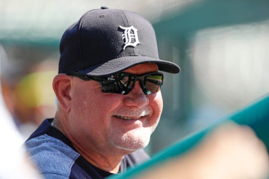 Tigers manager Ron Gardenhire smiles during the first inning on Sunday, Sept. 22, 2019, at Comerica Park.