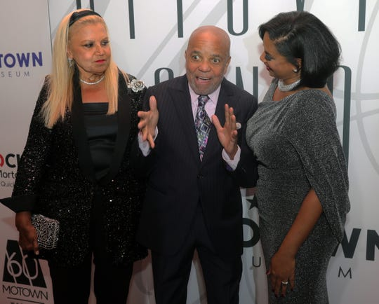 """Producer Suzanne de Passe, Motown founder Berry Gordy and Motown Museum CEO Robin Terry on the red carpet before the Motown 60 """"Hitsville Honors"""" ceremony Sunday, September 22, 2019 at Orchestra Hall in Detroit, Mich."""