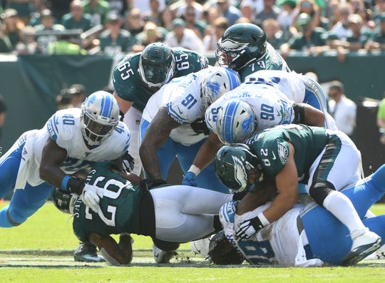 The Lions are 22nd in the league in run defense, allowing an average of 125.3 yards per game.