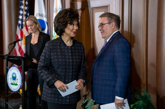 Transportation Secretary Elaine Chao and EPA administrator Andrew Wheeler have begun to roll back Obama-era auto fuel efficiency goals.