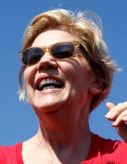 """Warren is fresh; she engages crowds,"" Shribman writes."