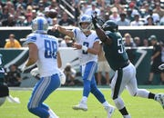 Lions quarterback Matthew Stafford threw for 201 yards and a TD in Sunday's win. More importantly, he wasn't sacked and didn't throw an interception.
